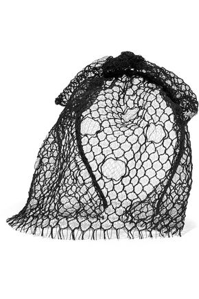 MAISON MICHEL Tina veiled headband