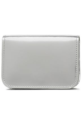 MAISON MARGIELA Metallic glossed-leather wallet