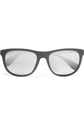 PRADA D-frame acetate mirrored sunglasses