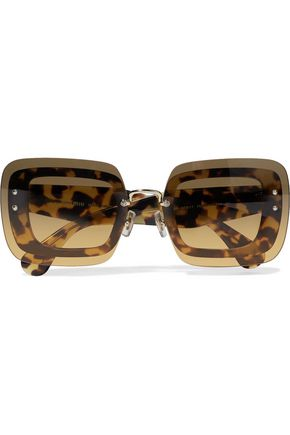 MIU MIU D-frame tortoiseshell acetate sunglasses