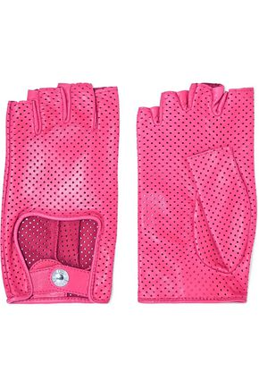 CAUSSE GANTIER Perforated leather gloves