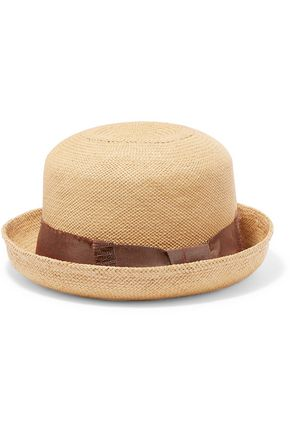 SENSI STUDIO Grosgrain-trimmed toquilla straw hat