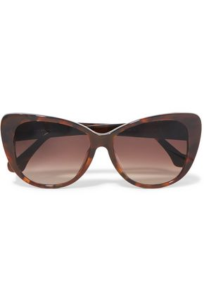 BALENCIAGA Cat-eye tortoiseshell-print acetate sunglasses