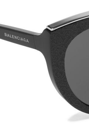 BALENCIAGA Cat-eye acetate sunglasses