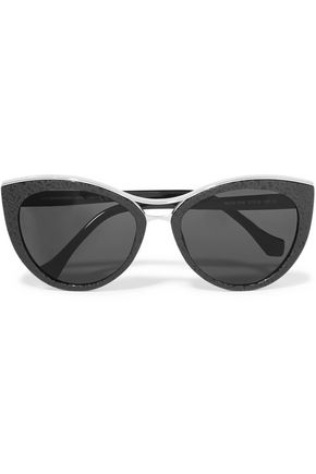 BALENCIAGA Cat-eye acetate sunglasses