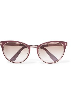 TOM FORD Cat-eye metal sunglasses