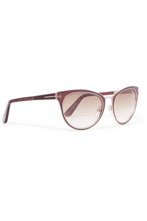 TOM FORD Cat-eye metal sunglasses
