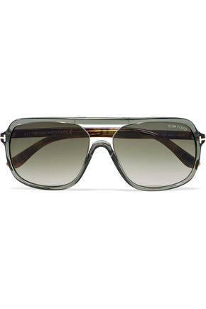 TOM FORD Aviator-style acetate sunglasses