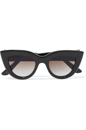 ELLERY Cremaster square-frame acetate and gold-tone sunglasses