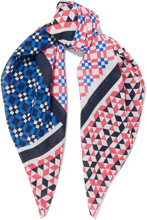 MAJE Printed cotton scarf