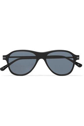 LE SPECS Aviator-style acetate sunglasses