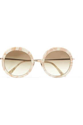 SUNDAY SOMEWHERE Round-frame acetate sunglasses
