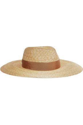 LANVIN Grosgrain-trimmed straw hat