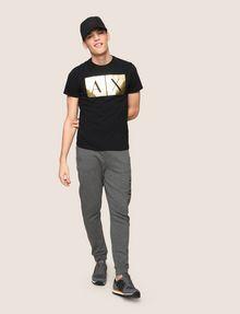 ARMANI EXCHANGE TESSELLATED FOIL LOGO TEE Logo T-shirt Man d