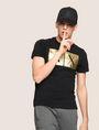 ARMANI EXCHANGE TESSELLATED FOIL LOGO TEE Logo T-shirt Man a