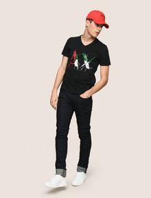 ARMANI EXCHANGE SHATTERED ITALIA LOGO TEE Logo T-shirt Man d