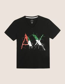 ARMANI EXCHANGE SHATTERED ITALIA LOGO TEE Logo T-shirt Man r
