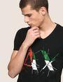 ARMANI EXCHANGE SHATTERED ITALIA LOGO TEE Logo T-shirt Man b