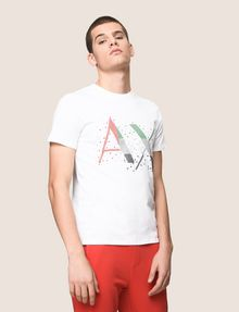 ARMANI EXCHANGE PIXELATED PATCHWORK LOGO TEE Logo T-shirt Man f