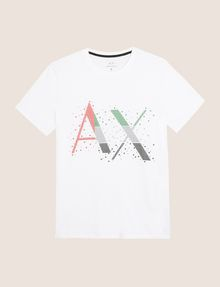 ARMANI EXCHANGE PIXELATED PATCHWORK LOGO TEE Logo T-shirt Man r