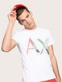 ARMANI EXCHANGE PIXELATED PATCHWORK LOGO TEE Logo T-shirt Man a