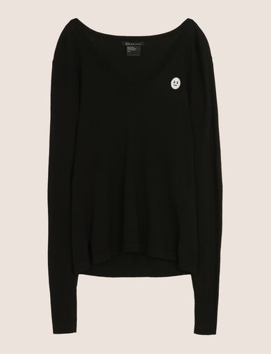 EMOJI LOGO V-NECK SWEATER