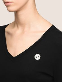 ARMANI EXCHANGE EMOJI LOGO V-NECK SWEATER Pullover Woman b