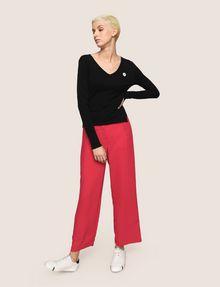ARMANI EXCHANGE EMOJI LOGO V-NECK SWEATER Pullover Woman d