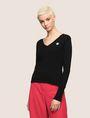 ARMANI EXCHANGE EMOJI LOGO V-NECK SWEATER Pullover Woman f