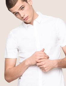 ARMANI EXCHANGE SHORT-SLEEVE STRETCH SLIM-FIT SHIRT Short sleeve shirt Man a