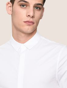ARMANI EXCHANGE SHORT-SLEEVE STRETCH SLIM-FIT SHIRT Short sleeve shirt Man b