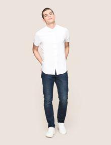 ARMANI EXCHANGE SHORT-SLEEVE STRETCH SLIM-FIT SHIRT Short sleeve shirt Man d