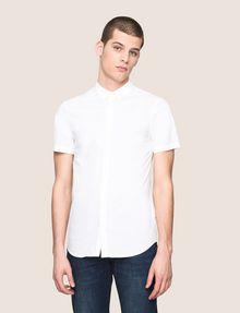 ARMANI EXCHANGE SHORT-SLEEVE STRETCH SLIM-FIT SHIRT Short sleeve shirt Man f