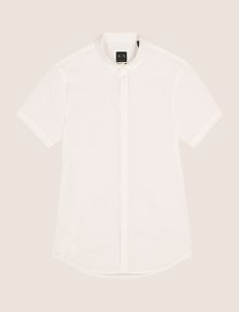ARMANI EXCHANGE SHORT-SLEEVE STRETCH SLIM-FIT SHIRT Short sleeve shirt Man r