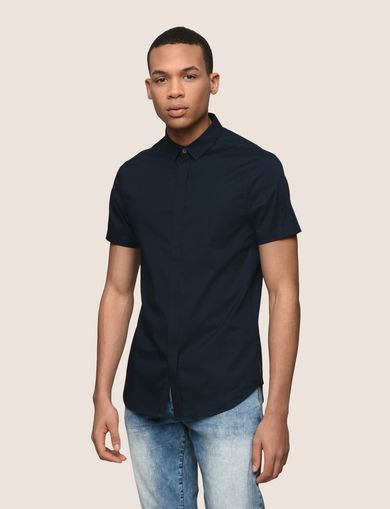 SHORT-SLEEVE STRETCH SLIM-FIT SHIRT