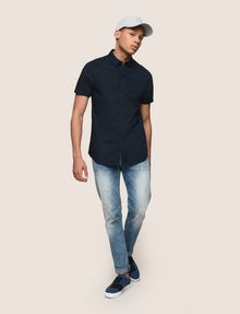 ARMANI EXCHANGE SHORT-SLEEVE STRETCH SLIM-FIT SHIRT Short sleeve shirt Man d