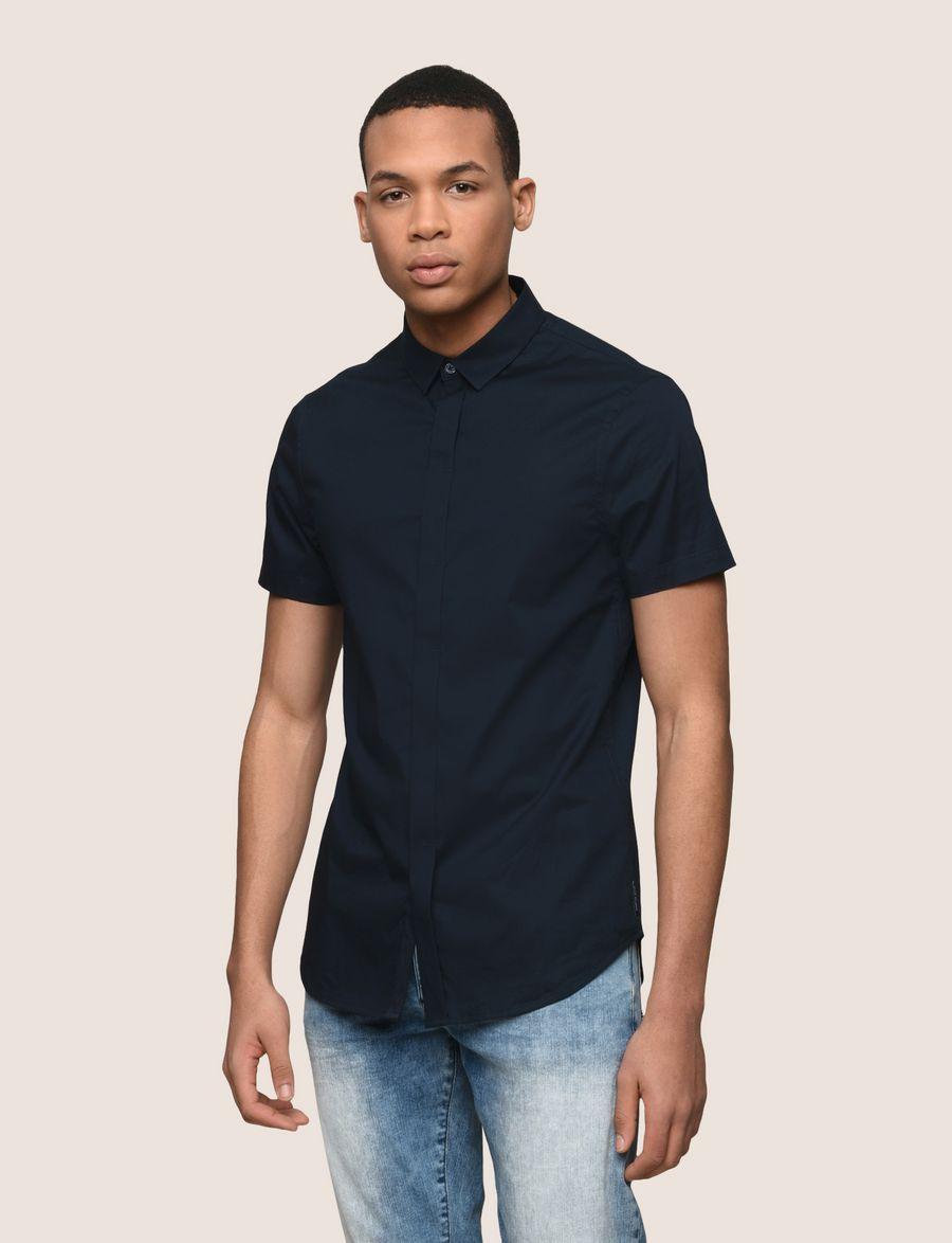 Armani Exchange Short Sleeve Stretch Slim Fit Shirt Short