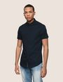 ARMANI EXCHANGE SHORT-SLEEVE STRETCH SLIM-FIT SHIRT Short sleeve shirt Man f