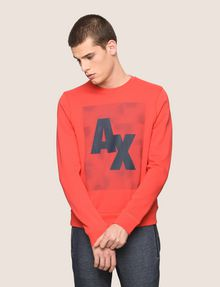 ARMANI EXCHANGE OPTICAL ILLUSION LOGO SWEATSHIRT Fleece Top Man f