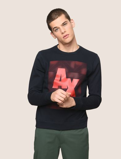 OPTICAL ILLUSION LOGO SWEATSHIRT
