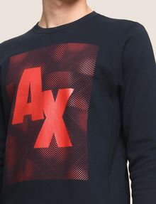 ARMANI EXCHANGE OPTICAL ILLUSION LOGO SWEATSHIRT Fleece Top Man b