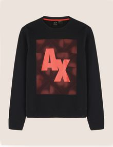 ARMANI EXCHANGE OPTICAL ILLUSION LOGO SWEATSHIRT Fleece Top Man r