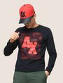 ARMANI EXCHANGE OPTICAL ILLUSION LOGO SWEATSHIRT Fleece Top Man a