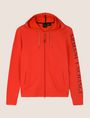 ARMANI EXCHANGE LOGO SLEEVE ZIP-UP HOODIE Fleece Jacket Man r