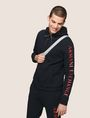 ARMANI EXCHANGE LOGO SLEEVE ZIP-UP HOODIE Fleece Jacket Man a