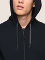 ARMANI EXCHANGE LOGO SLEEVE ZIP-UP HOODIE Fleece Jacket Man b