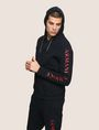 ARMANI EXCHANGE LOGO SLEEVE ZIP-UP HOODIE Fleece Jacket Man f