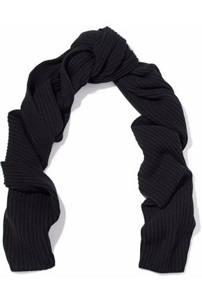 N.PEAL Ribbed cashmere scarf