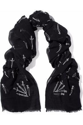 RAG & BONE Embroidered cotton scarf