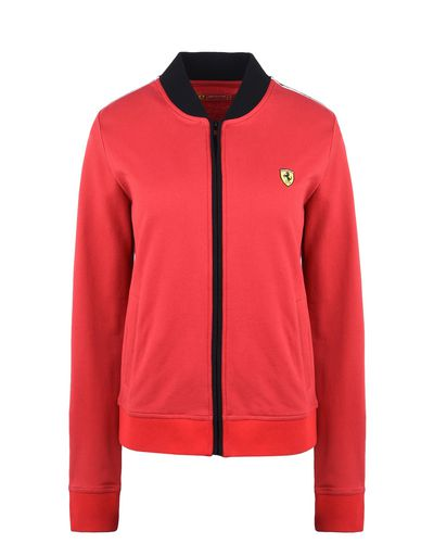 Scuderia Ferrari Online Store - Scuderia Ferrari sweatshirt with Shield on the breast - Zip Sweaters